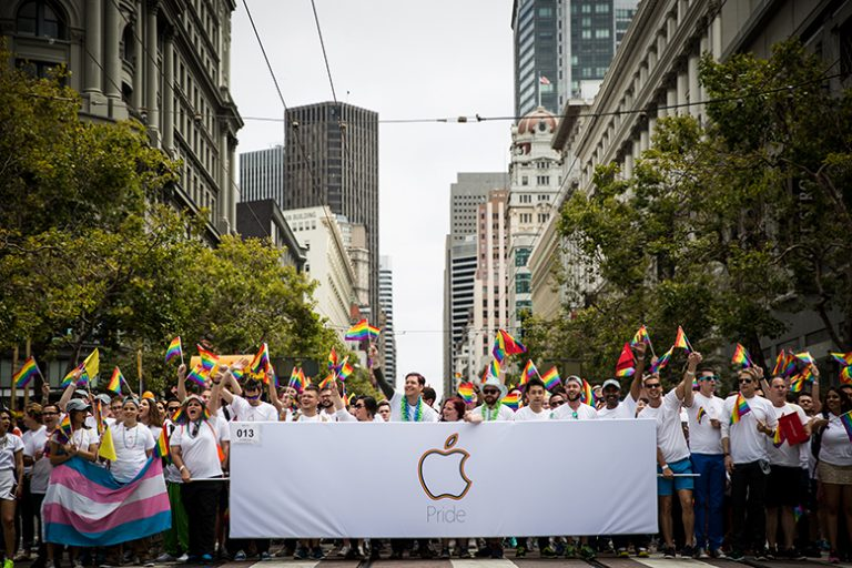 Apple at SF Gay Pride Parade