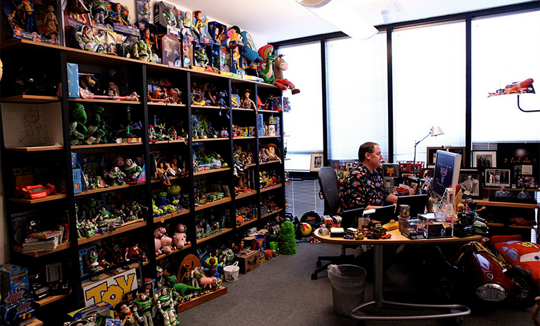 pixar office. More Elaborate Than Anyone Else\u0027s, John Lasseter\u0027s Room Is Famous Not Only Within, But Also Outside The Company. Filled To Brim With Pixar Office