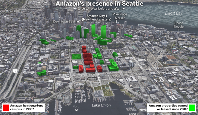 amazon office buildings in Seattle