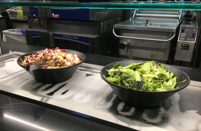 salads in linkedin cafeteria